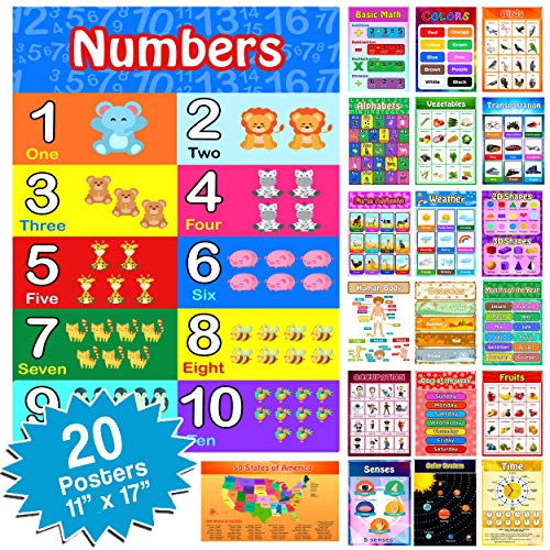 20 Large STEM Educational Posters for Kids Preschool Posters...