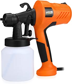 Abaige HVLP Paint Sprayer, 700W Hvlp Spray Gun, Electric Paint Gun with 5 Nozzles, 3 Spray Patterns, 800ml Container for H...