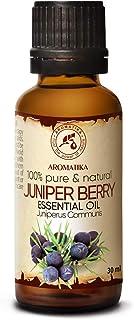 Aceite Esencial de Bayas de Enebro 30 ml - Juniperus Communis - Aromaterapia - Fragancias para el Hogar - Aroma de Conífer...