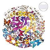 84 Pezzi Farfalle 3D Adesivi 7 Colori Farfalle Pareti Stickers Farfalle Adesivi Murali per Pareti Camera de Bambini e Decorazione Casa