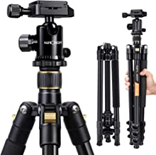 K&F Concept 62'' DSLR Tripod, Lightweight and Compact Aluminum Camera..