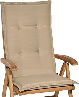 Beautissu Loft HL - Cojín para sillas de balcón o Asiento Exterior con Respaldo Alto - 120x50x6 cm - Placas compactas de g...