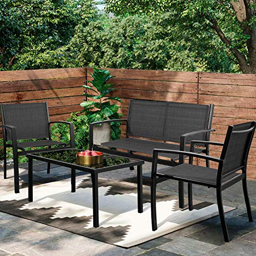 Greesum 4 Pieces Patio Furniture...