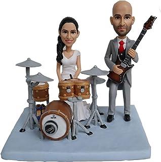juego de batería de juego hecho a mano personalizado bobblehead personalizado pastel de bodas topper escultura gay lesbian...