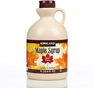comprar comparacion Kirkland 100% Jarabe de arce Grado A (Ámbar Oscuro) - 1 litro (1,4 Kg)