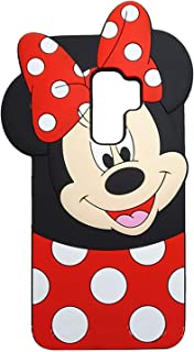 EMF Cute Mouse Case for Samsung Galaxy S9 Plus,3D Cartoon Animal Silicone Rubber Protective Kawaii Funny Character Cover,Animated Fun Cool Case for Kids Teens Girls Guys (Samsung Galaxy S9 Plus)