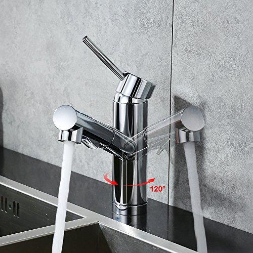 Homelody Verchromt Armatur Spüle Wasserhahn Brause Küchenarmatur ausziehbar Küche Mischbatterie Armaturen Spültisch Spültischarmatur - 4
