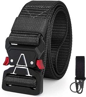 YORANIO Cinturón táctico, cinturón de Nylon Duradero Estilo Militar, Nuevo Modelo 2019 de Hebilla de liberación rápida para Hombres y Mujeres