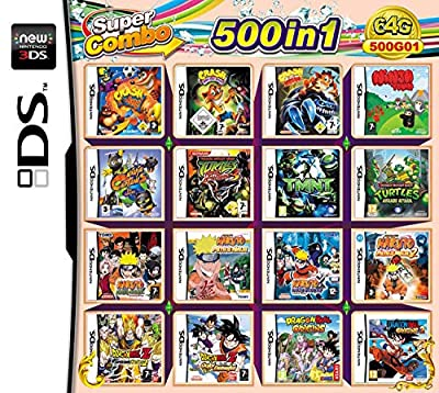 500 Games in 1 NDS Game Pack Card Compilations Video Game DS Cartridge Card For DS NDS NDSL NDSi 3DS 2DS XL