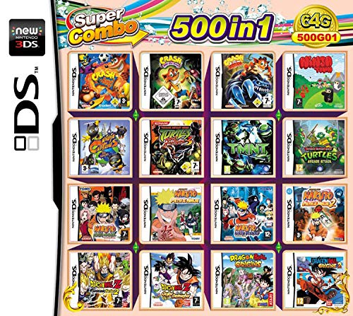500 Spiele in 1 NDS Game Card Super Combo Cartridge DS Spielkarte für DS NDS NDSL NDSi 3DS 2DS XL NEW