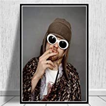 JYWDZSH Canvas Print Kurt Cobain Rock Music Singer Wall Art Picture Posters and Prints Canvas Painting for Room Home Decor,40X50Cm No Frame