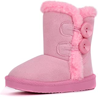 LONSOEN Boys Girls Waterproof Lace/Zip Up Kids Boots