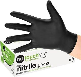 We Can Source It Ltd Lot de 2 bo/îtes de 200 Gants jetables en Nitrile sans Poudre pour Tatouage Tatouage M/écanique de Valettage Noir Taille M