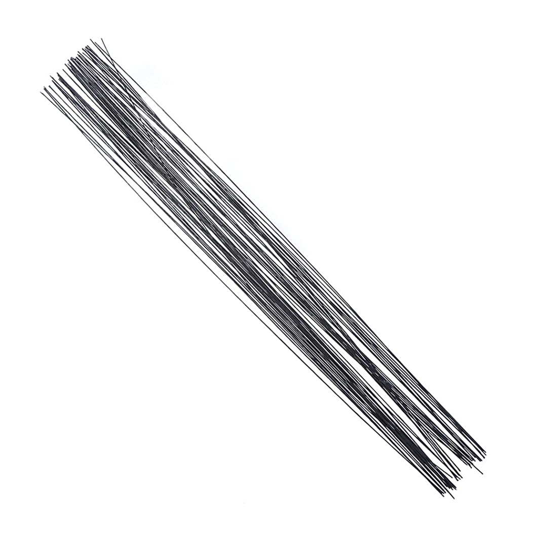 Decora 24 Gauge Black Floral Wire 16 inch,50/Package