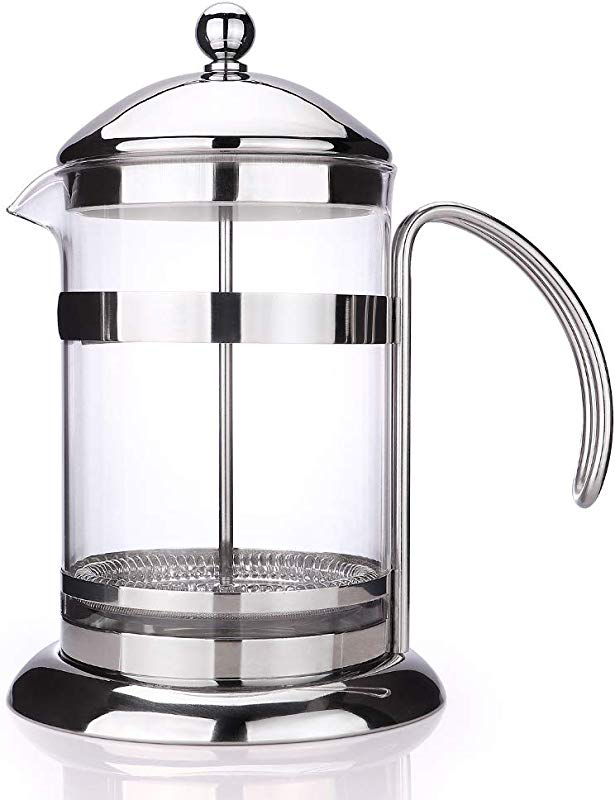 APOTA French Press Coffee Tea Maker 32Oz Coffee And Tea Original French Press With Durable Easy Clean Stainless Steel And Borosilicate Glass 1 800ml