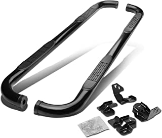 For Ford F150 12th Gen Supercrew Cab 3 inches Side Step Nerf Bar Running Board (Black)