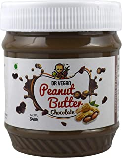 Dr Vegan Peanut Butter, 340 G,Chocolate - Made from Real Roasted Peanuts, Keto, Rich in Protein (Pack of 2)