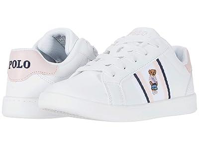 Polo Ralph Lauren Kids Oaklynn Bear (Little Kid) (White Smooth/White/Light Pink/Navy/Sweater Vest Bear) Girl