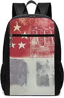 PhyShen Singapore Flag Chartlet Unisex Unique Shoulder Bags,Adult Student Double Zipper Closure Casual School Bag