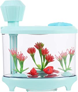 ULTNICE Fish Tank Air Humidifier Mist Diffuser USB Cool Mist Air Humidifier with LED Night Light Changing for Bedroom Home...