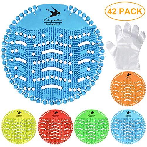 Flying swallow UrinalSieb, 12 PC Urinal Matte mit 15 Paar Einmalhandschuhe, 6verschiedene Duft