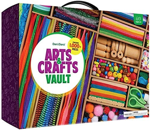 Arts and Crafts Vault 1000 Piece Craft Kit Library in a Box for Kids Ages 4 5 6 7 8 9 10 11 product image