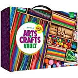 Arts and Crafts Vault - 1000+ Piece Craft Kit Library in a Box for Kids Ages 4 5 6 7 8 9 10 11 & 12 Year Old Girls & Boys - Crafting Supplies Set Kits - Gift Ideas for Preschool Kids Project Activity