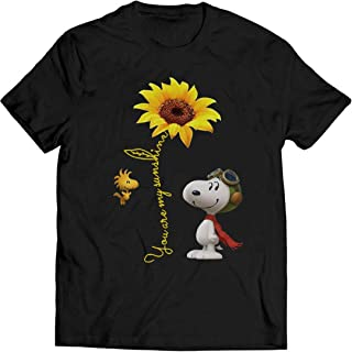 Snoopy You are My Sunshine t Shirt Dog Lovers Gift Sunflower Lovers