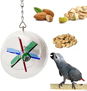 LIANCHI Parrot Creative Foraging Systems Foraging Wheel Bird Intelligence Growth Cage Acrylic Box Toys