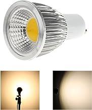 Gecheer GU10 5W COB LED Spotlight Bulb Lamp Energy Saving High Brightness Warm White Silver