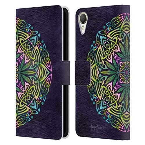 Head Case Designs Offizielle Brigid Ashwood Topf Blaetter Keltisch Leder Brieftaschen Huelle kompatibel mit HTC Desire 10 Lifestyle