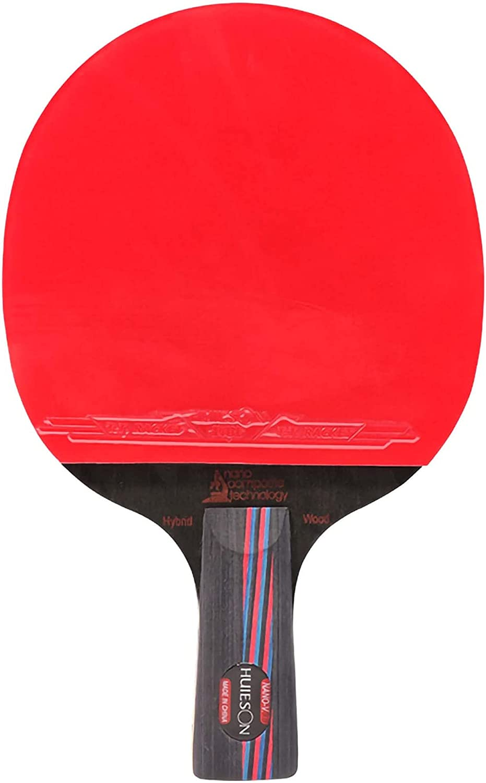 HXFENA Raqueta de Tenis de Mesa,Palas de Ping Pong Principiantes Placa Inferior Carbon King con Excelente Control para Clubes Deportivos de Actividades Familiares/A/Mango corto