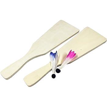 らくがき羽子板 無地 2枚セット サイズ約35cm (羽根付き)