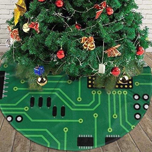 AEMAPE Computadora Nerd Placa de Circuito CPU Árbol de Navidad Falda Navidad Decoración navideña 36 '