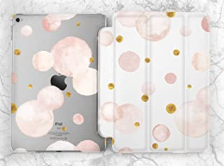 Pastel Pink Gold Bubbles Case For Apple iPad Mini 1 2 3 4 5 iPad Air 2 3 iPad Pro 9.7 10.5 11 12.9 inch iPad 9.7 inch 2017 2018 2019