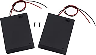LAMPVPATH (Pack of 2) 4 AA Battery Holder with Switch, 6V Battery Holder with Switch, 4X 1.5V AA Battery Holder with Leads and Switch