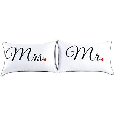 A Nice Night Couples Pillowcases for Girlfriend Boyfriend,Cute, Wedding Gift, 19x29Inch (17)