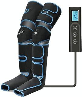 Masseur de Jambes, Masseur de Pieds, compression d'air des jambes avec contrôleur portable 6 modes 3 intensités, rechargea...