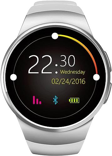 argent Montre Intelligente Fitness Tracker Rappel d'appel pour Android Female