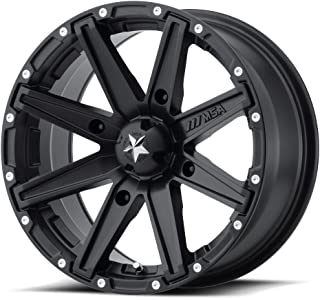 MSA Clutch 16x7 Black Wheel / Rim 4x137 with a 0mm Offset and a 112.00 Hub Bore. Partnumber M33-06737