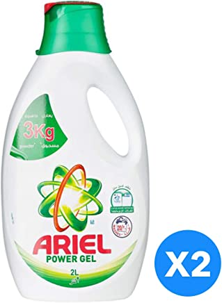 Ariel Power Gel Washing Detergent - Pack of 2-Pieces (2 x 2L)