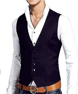 [ベンケ] ベスト スーツ メンズ フォーマル スリム フィット 生地 ジレ ビジネス カジュアル