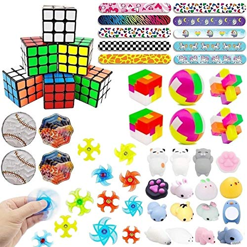 46 Pack Party Favors For Kids Toys Assortment Bundle, Carnival Prizes, Birthday Party, Prizes Box Toy, Classroom Rewards, Pinata Filler, Treasure Box, Goodie Bag Filler, School Game Supplies