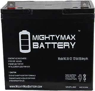 ML55-12 - 12V 55AH SLA Battery - Mighty Max Battery Brand Product