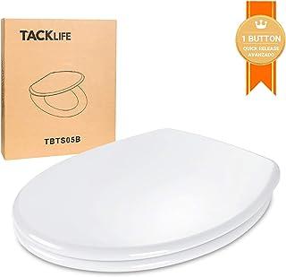 Tapa WC, TACKLIFE TBTS05B Asiento de Inodoro en Forma de O con Liberación Rápida Tapa de Inodoro con Cierra Suave y Silencioso Fácil de Instalación y Limpieza