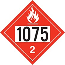 1075 Placard, Division 2.1 Flammable Gas 10-pk. - 10.75