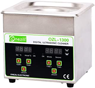 800ml/1.3L/2L Professional Ultrasonic Cleaner, Smart Ultrasonic Jewelry Cleaner with Timer Digital for Cleaning Jewelry,Eyeglasses,Tools,Watches,Dentures,Circuit Board,Guns Parts(1.3L)