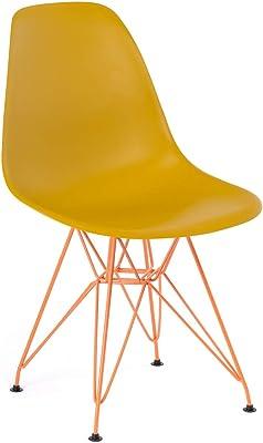 Set di 4 Sedie Legno 46,5x43x83 cm Arancio White loft