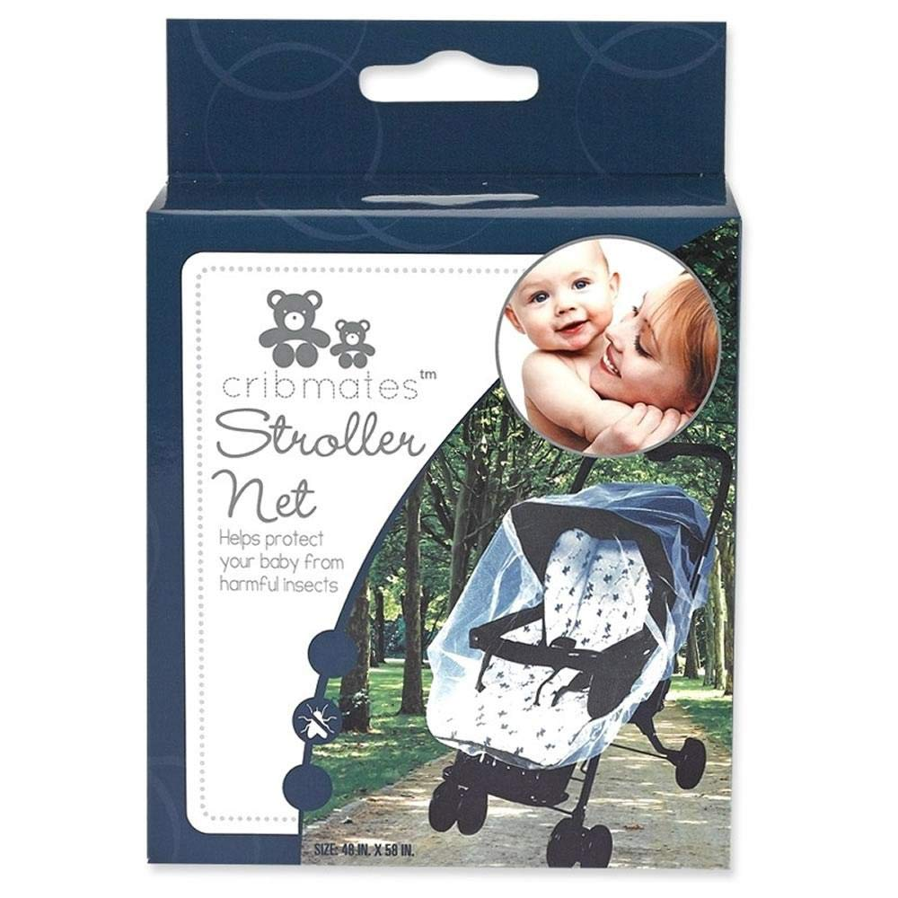 Cribmates Stroller Net - White, Helps Protect The Baby from Harmful Insects, 48