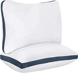 Utopia Bedding Cotton Gusseted Pillow (2-Pack) - Luxury Side Sleeper Pillows for Sleeping - Bed Pillows Queen (18 x 26 inches) - Navy